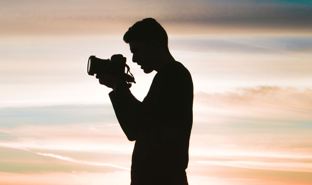 man with camera